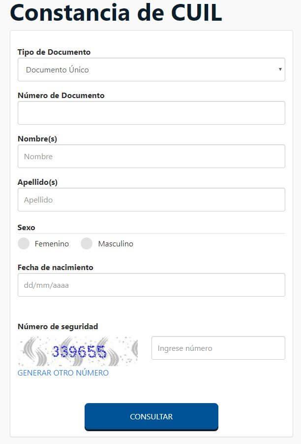 constancia de cuil argentina por internet