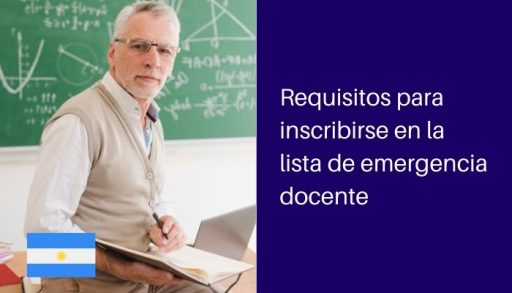 requisitos lista emergencia docente
