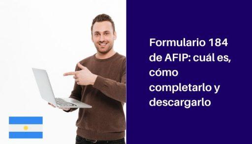 formulario 184 afip como completar