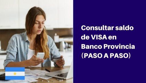saldo visa en banco provincia
