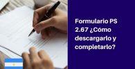 descargar y completar formulario ps 2.67